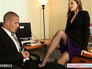 Office stunner Dani Daniels take manmeat