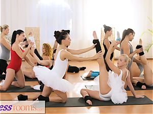 fitness rooms puny ballet instructos secret 3some