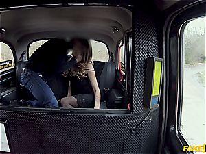 Backseat disrobing leads to creampie