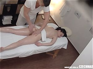 blasting dark haired milf has strong orgasm