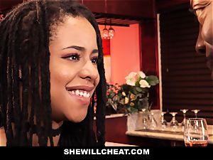 SheWillCheat - hotwife wifey plumbs bbc in bathroom