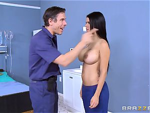 Mick Blue instructs Peta Jensen the rules of surviving