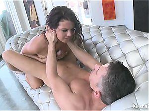 Top huge-titted honey Keisha Grey gets naughty with Mick's bone