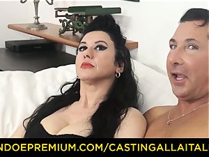 audition ALLA ITALIANA dark haired nymphomaniac harsh anal invasion bang-out