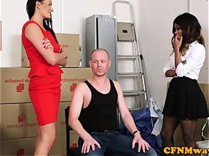 Mean female domination group joy with Kiki Minaj