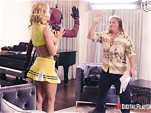 Jessa Rhodes gets humped by draped superhero