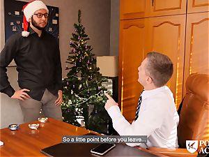 pornography ACADEMIE - Christmas pummel with Christina glisten
