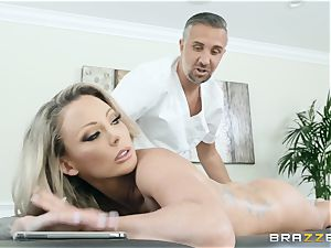Isabelle Deltore feasting on a meaty shaft
