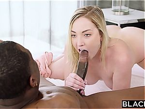 pallid side female just wants to be boned by this big black cock again