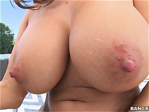 ginormous caboose and ginormous mounds Ava Addams gets buttfuck