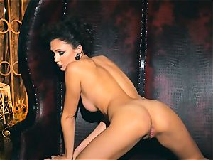 slender petite Ariana Marie beautiful rubber solo getting off