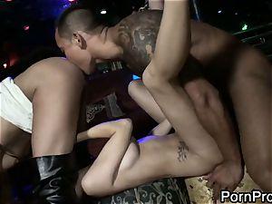mega-bitch April ONeil gets humped up her humid minge