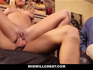 hotwife hubby sees Wifes coochie Get destroyed