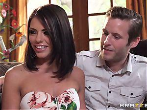 Kendra lust and Adriana Chechik share a phat jizz-shotgun