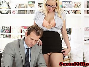 ultra-cutie secretary takes her manager' chisel for a rail