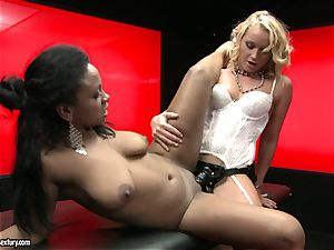 harsh Kathia Nobili shoves her cable on fuckpole deep down her colleague hatch