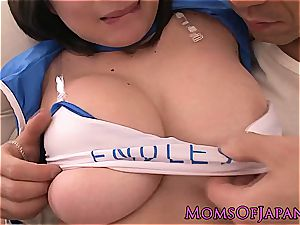 buxom japanese cougar in uniform pussyfucked