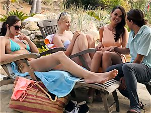 The Getaway Pt three flashing fabulous lesbos Dillion Harper and Charlotte Stokely
