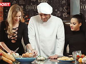 LETSDOEIT - hook-up Cooking With babes Apolonia and Angel