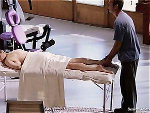 splendid Mimi Rogers gets her whole figure kneaded
