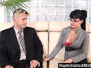 HumiliatedMilfs super-naughty assistant likes a ginormous spunk-pump