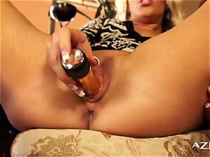 blond mummy gropes her gash for you
