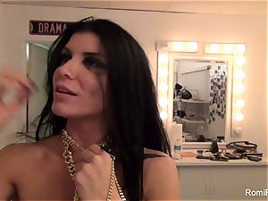 Behind the sequences with handsome porn industry star Romi Rain