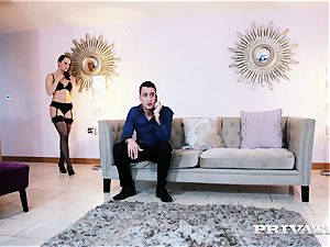 Private.com Blue Angel humps in a sizzling lingerie
