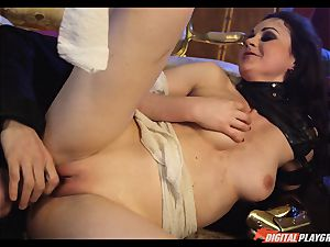 Tina kay has ample flow on her sumptuous nice face from frankenstein