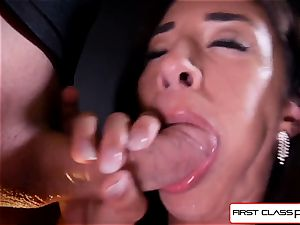 Cameron Canela unclothe down and and inhale a meaty pecker