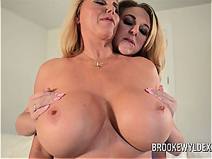 Brooke Wylde and Karen Fisher giant jug lesbian act