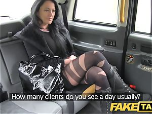 fake cab Local hooker porks taxi guy