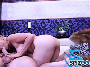 Sarah Vandella inhaling and fuckin' a large fuckpole