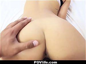 marvelous Latina Gina Valentina point of view tearing up