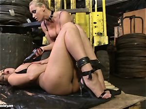 Andy brown and Kathia Nobili butt dildoing rock-hard