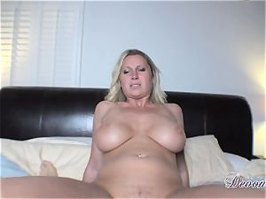 Devon Lee gets herself penetrated just the way she likes before getting gooed