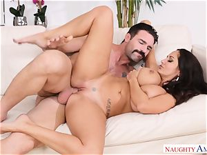 Ava Addams pounded on the sofa