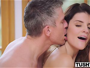 TUSHY big-titted brown-haired Gets Her butt predominated By manager