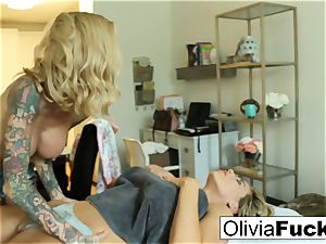 Olivia Austin gets fucked by Sarah Jessie