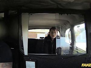 faux cab guiltless teenage takes gigantic yam-sized penis
