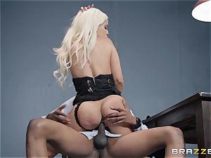 Bad booty Bridgette B plumbed by a throbbing dark-hued cock