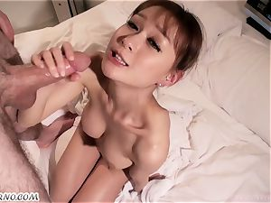 big-titted chinese chick does deep throat and swallowing
