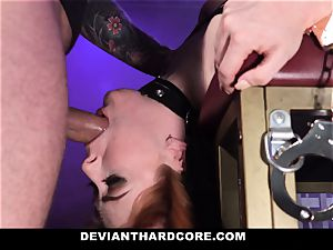 DeviantHardcore - super-steamy sandy-haired Gets gullet boned
