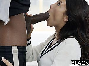 Megan Rain fuckin' a ebony chisel