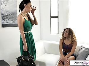 Jessica Jaymes and Liv Revamped fuck a humungous dick