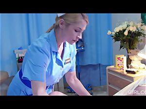 GIRLCORE lesbian Nurses Give nubile Patient Vaginal check-up