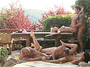 Outdoor lovemaking fun and pornography games vignette five