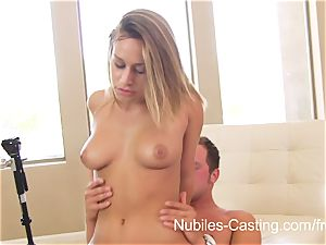 adorable blonde nubile thirsty for cum
