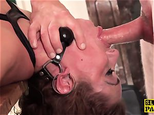 red-haired brit victim assfucked and trussed