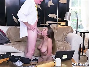 Latino father and bi hotwife dude very first time Ivy impresses with her gigantic melons and caboose